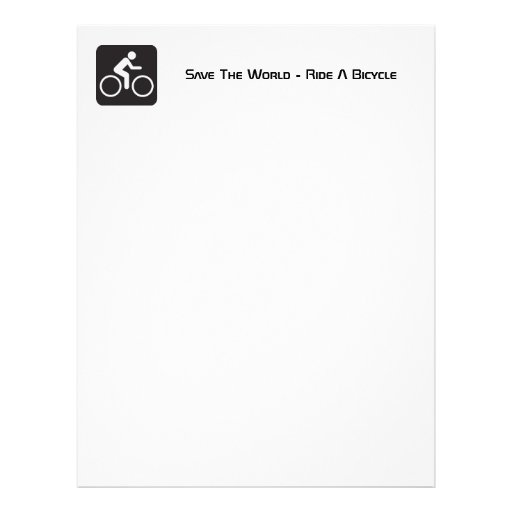Ride A Bicycle Recycled Letterhead Paper