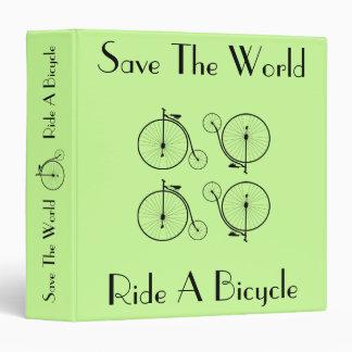 Ride A Bicycle Vintage Binder