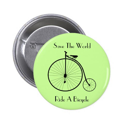 Ride A Bicycle Vintage Button