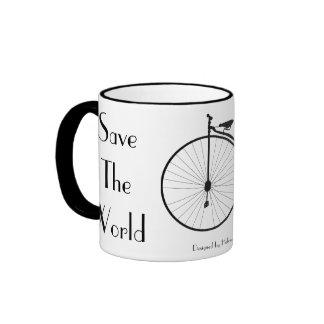 Ride A Bicycle Vintage Coffee Mug