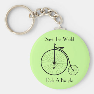 Ride A Bicycle Vintage Keychain