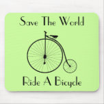 Ride A Bicycle Vintage Mousepad