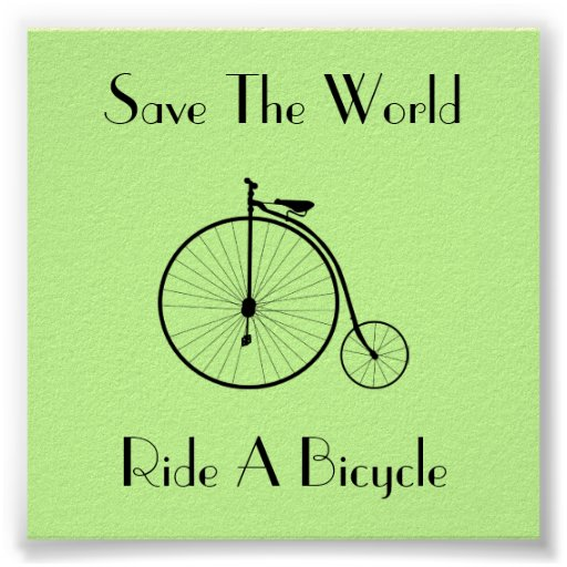 Ride A Bicycle Vintage Square Poster