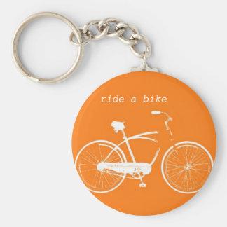 Ride a Bike Basic Round Button Keychain