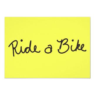 RIDE A BIKE GROUND TRANSPORTATION CAUSES ENVIROMEN CARD