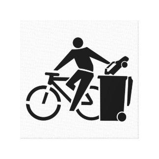 Ride A Bike Not A Car Canvas Print
