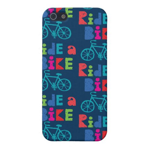 Ride a Bike - Sketchy navy iphone 4/4S iPhone 5/5S Cover