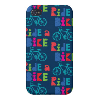 Ride a Bike - Sketchy navy iphone 4/4S iPhone 4 Cases