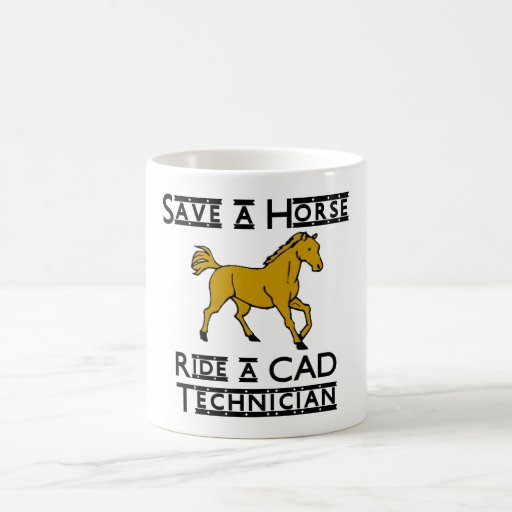 ride a cad technician classic white coffee mug