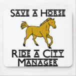 ride a city manager mouse pad