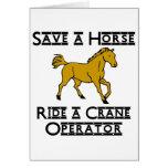 ride a crane operator greeting cards
