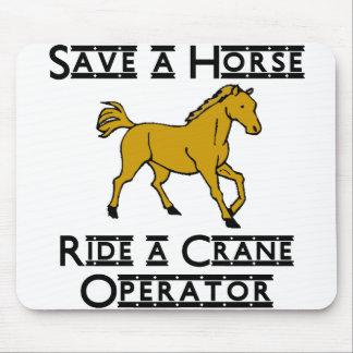 ride a crane operator mouse pad