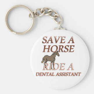Ride a Dental Assistant Basic Round Button Keychain