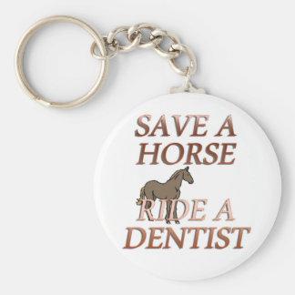 Ride a Dentist Basic Round Button Keychain