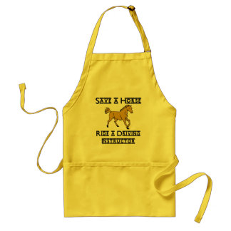ride a driving instructor adult apron