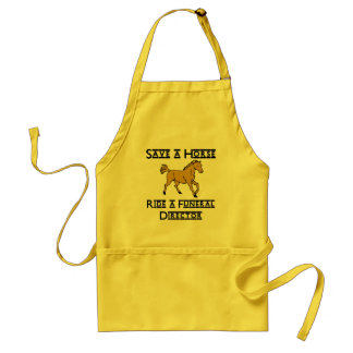 ride a funeral director adult apron
