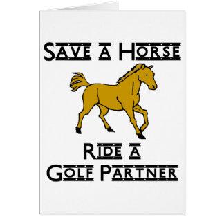 ride a golf partner card