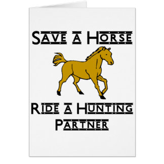 ride a hunting partner card