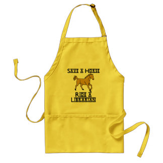 ride a librarian adult apron