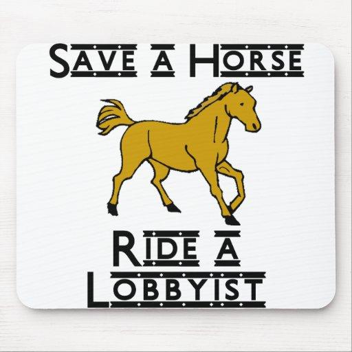 ride a lobbyist mousepad
