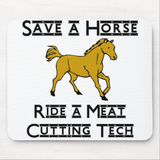 ride a meat cutting tech mouse pad