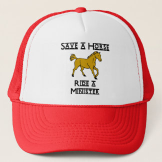 ride a minister trucker hat