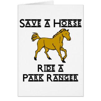 ride a park ranger card
