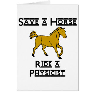 ride a physicist greeting cards
