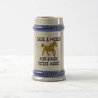 ride a real estate agent beer stein