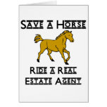 ride a real estate agent greeting card