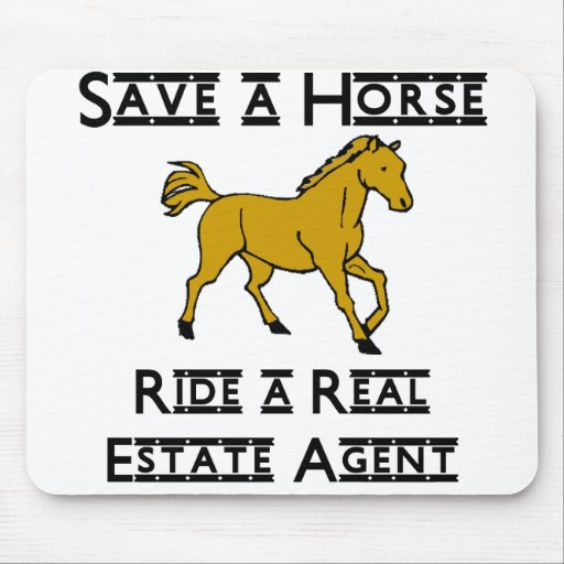 ride a real estate agent mouse pad