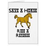 ride a referee greeting card
