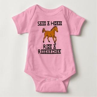 ride a researcher baby bodysuit