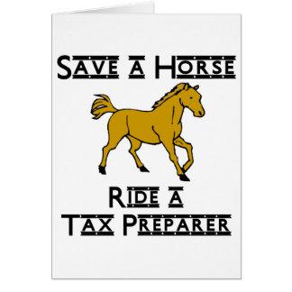 ride a tax preparer card