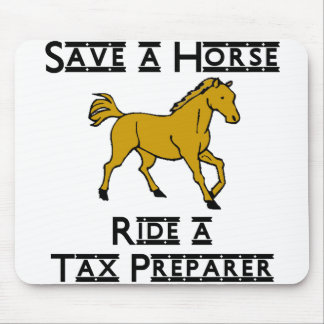 ride a tax preparer mouse pad