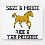 ride a tax preparer mousepads