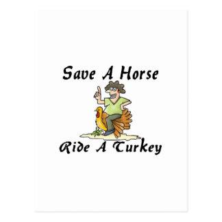 Ride A Turkey Postcard