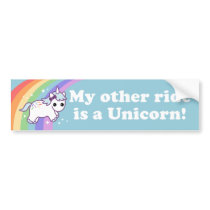 Ride a Unicorn Bumper Sticker