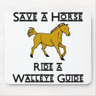 ride a walleye guide mouse pad