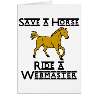 ride a web master stationery note card