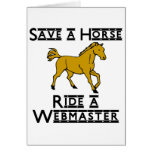 ride a web master greeting cards