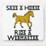 ride a web master mousepad