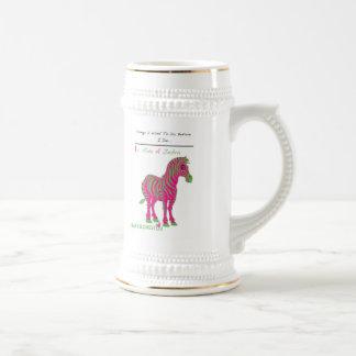 """RIDE A ZEBRA"" Giant Mug (MaryJLovesYou)"