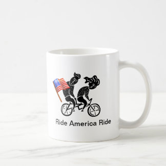 Ride America Ride Classic White Coffee Mug