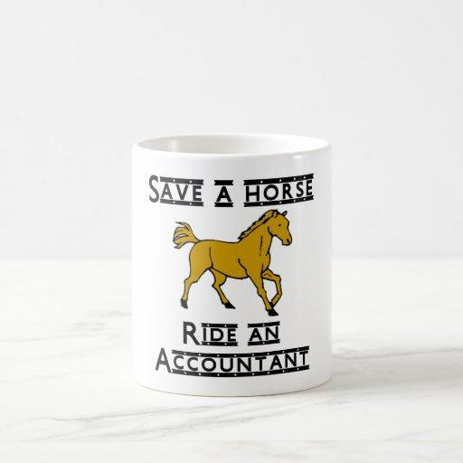 Ride an Accountant Classic White Coffee Mug