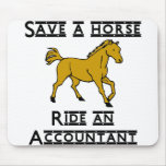 ride an accountant mousepads