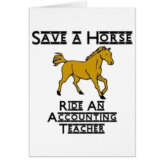 ride an accounting teacher card