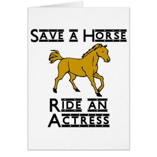ride an actress card