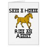 ride an agent card