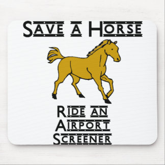 ride an airport screener mouse pad